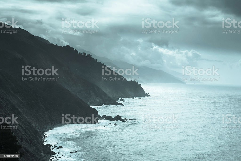 Big Sur Toned royalty-free stock photo