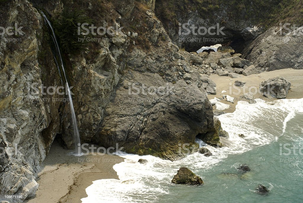 Big Sur Waterfall stock photo