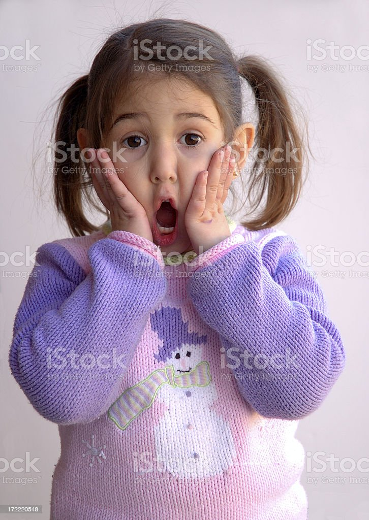 Big surprise! stock photo