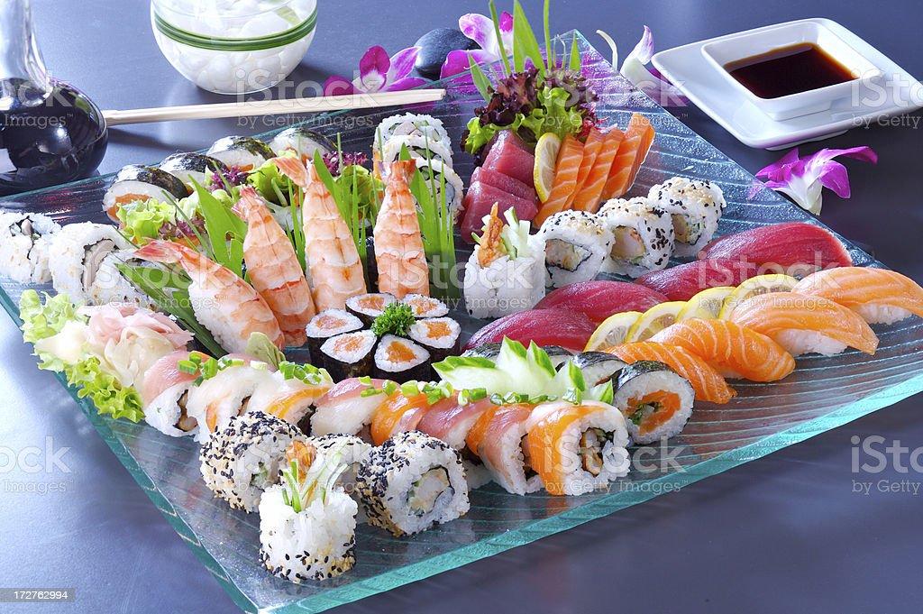 Big sushi set royalty-free stock photo