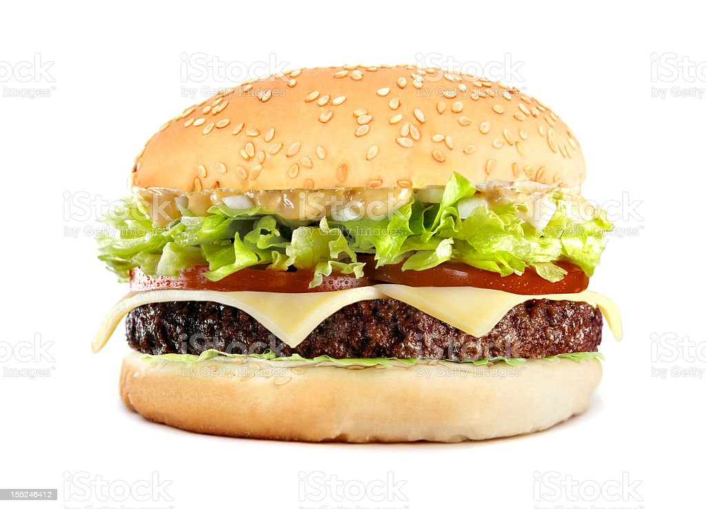 big tasty cheeseburger royalty-free stock photo