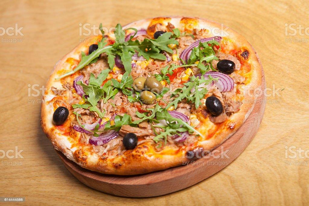 Big tasty pizza stock photo