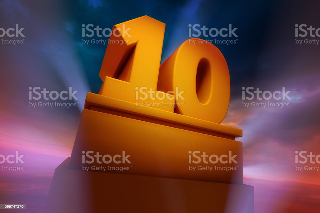 Big Ten 3D monument stock photo