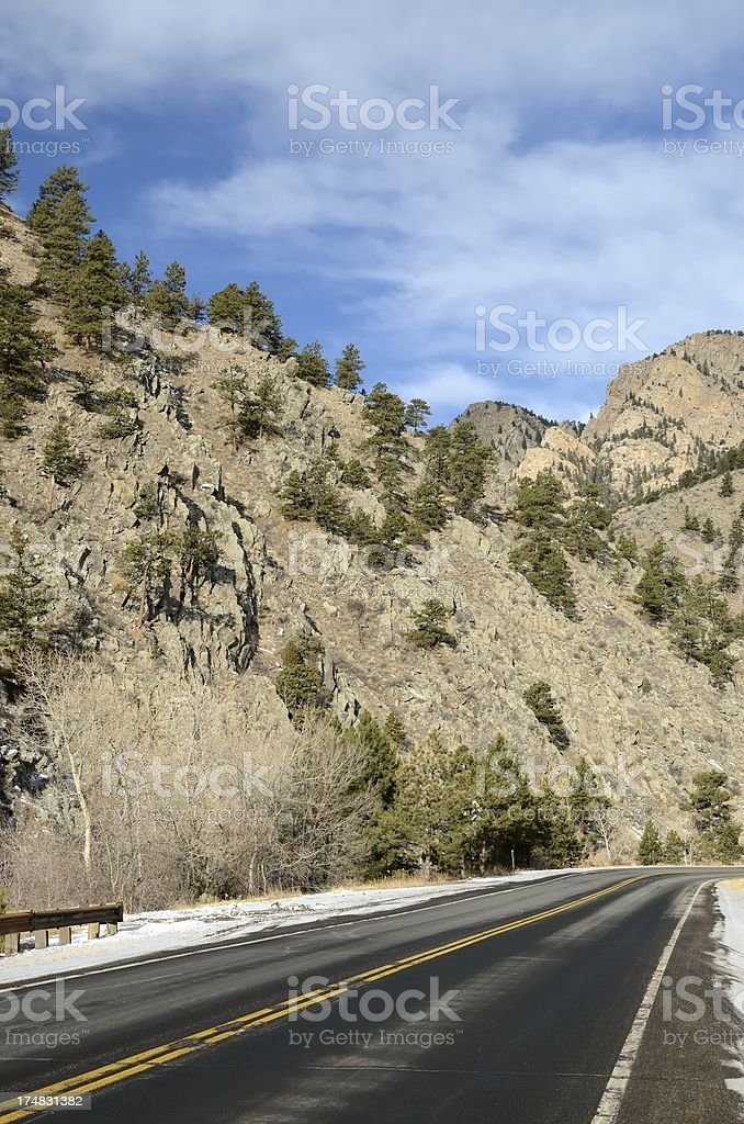 Big Thompson Canyon royalty-free stock photo