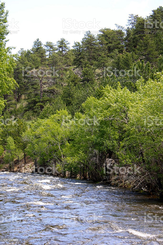 Big Thompson River royalty-free stock photo