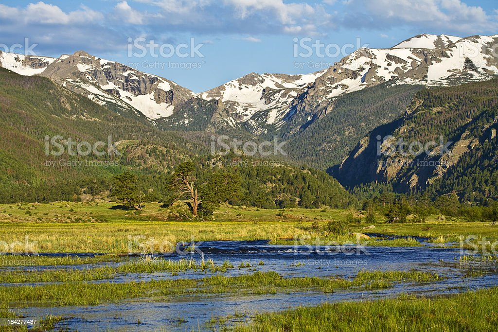 Big Thompson River, Rocky Mountain National Park royalty-free stock photo