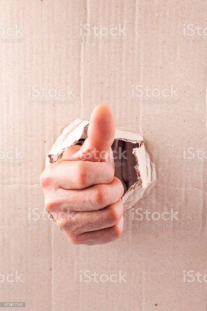 big thumb up royalty-free stock photo