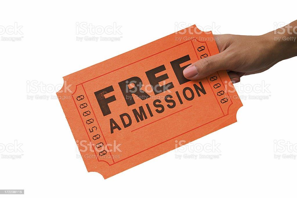 Big Ticket: Free Admission royalty-free stock photo