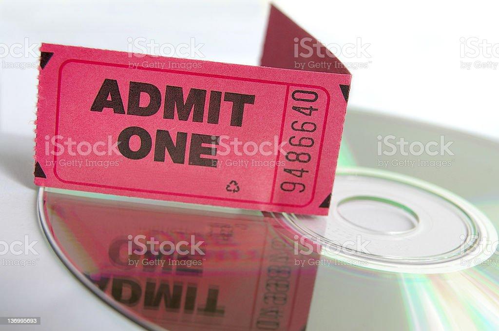 Big ticket stock photo