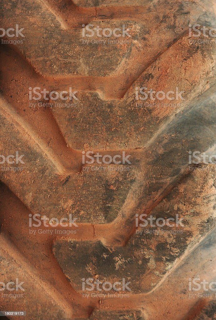 Big tie of tractor royalty-free stock photo