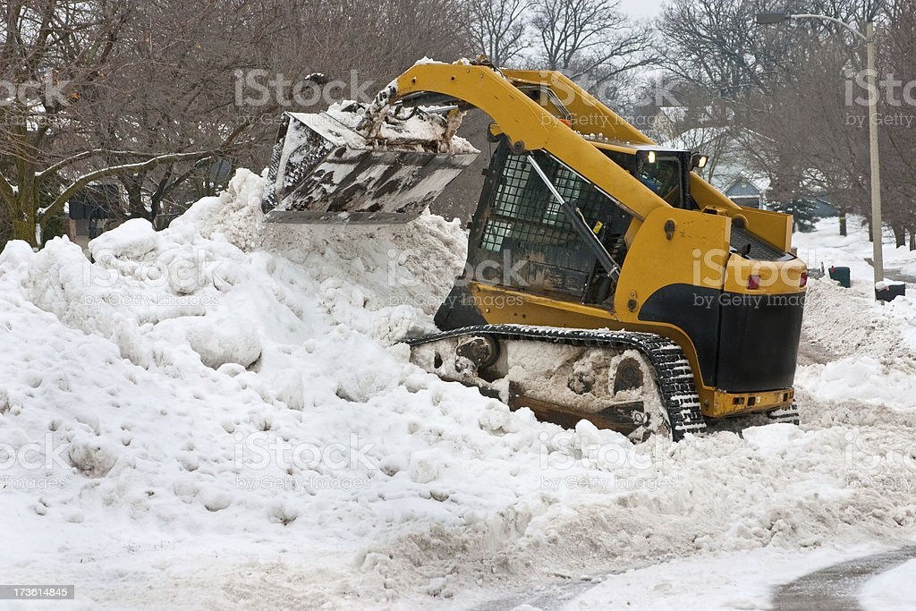 big time snow removal royalty-free stock photo