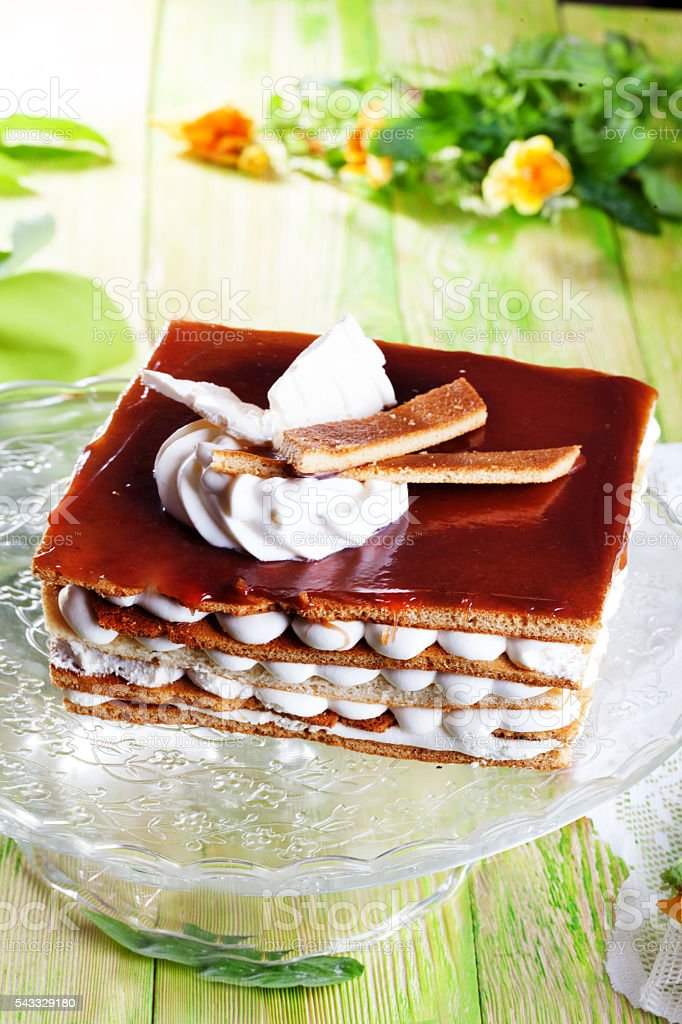 big tiramisu cake from pastry cream cocoa still life boards stock photo