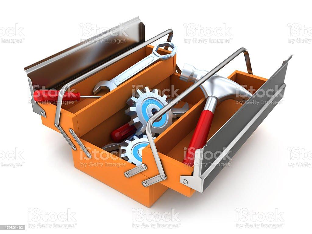 Big toolbox stock photo