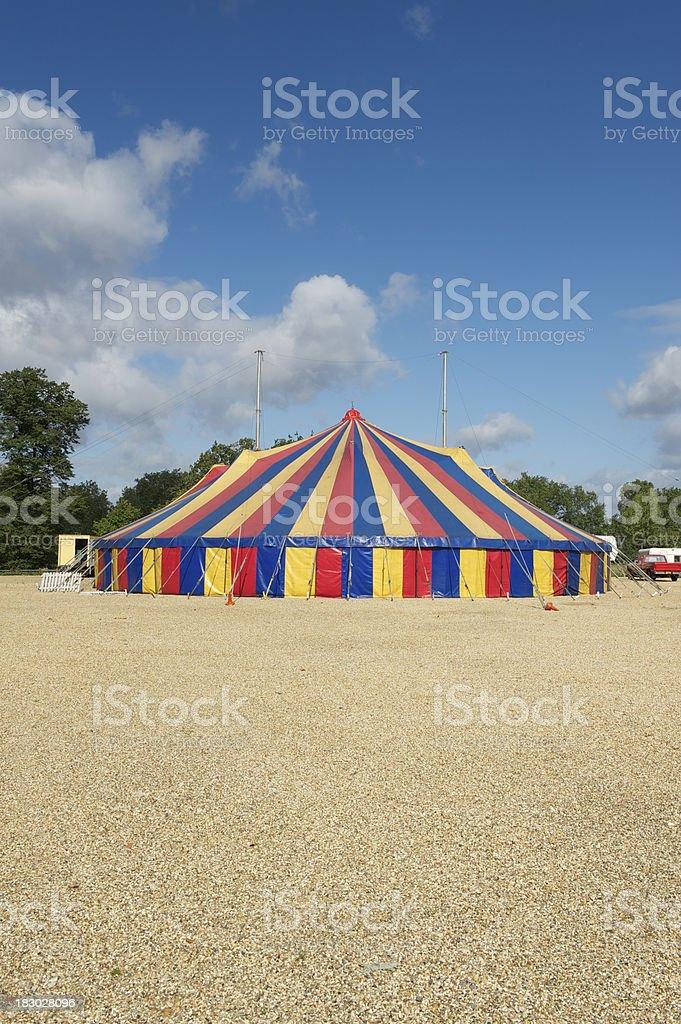 Big top circus tent stock photo