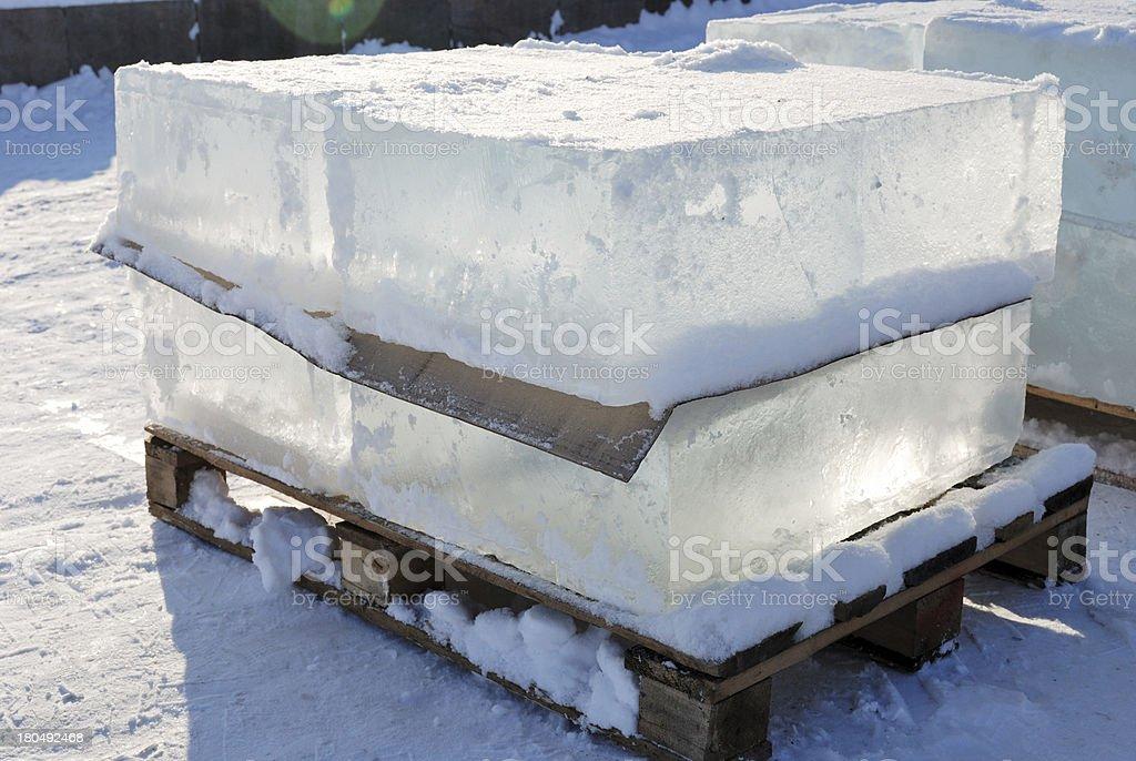 big translucent ice blocs in the sunshine royalty-free stock photo