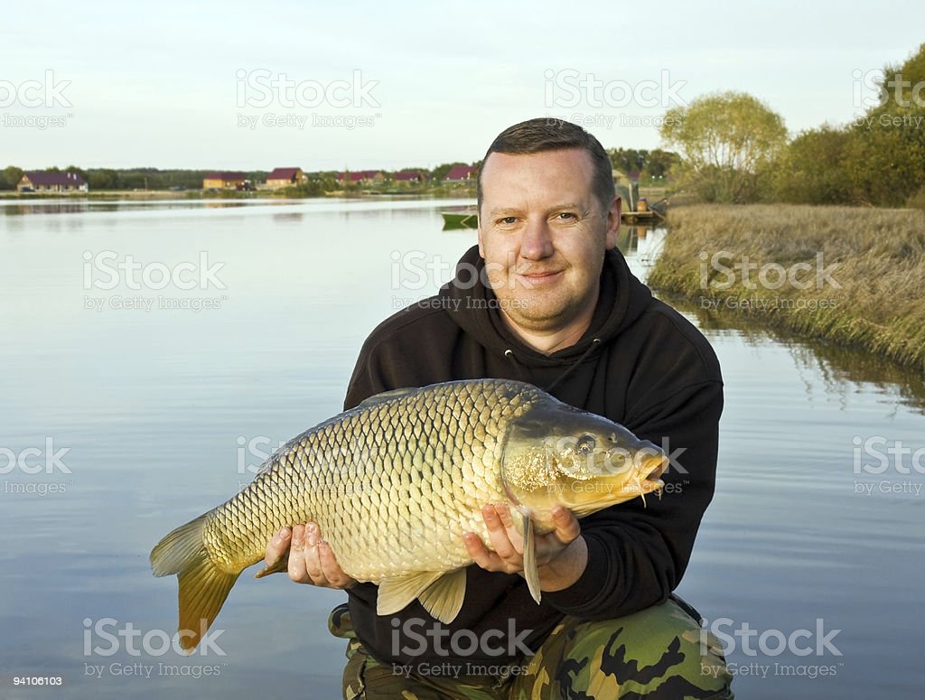 big trophy carp royalty-free stock photo