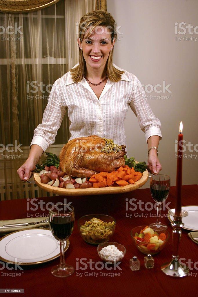 Big Turkey Dinner royalty-free stock photo