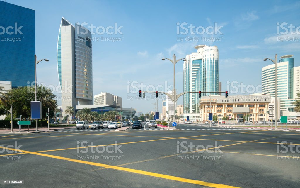 Big urban crossroad stock photo