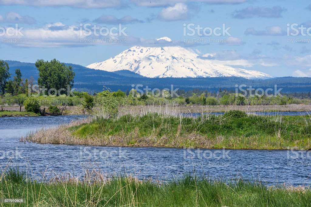Big Valley Shasta view stock photo