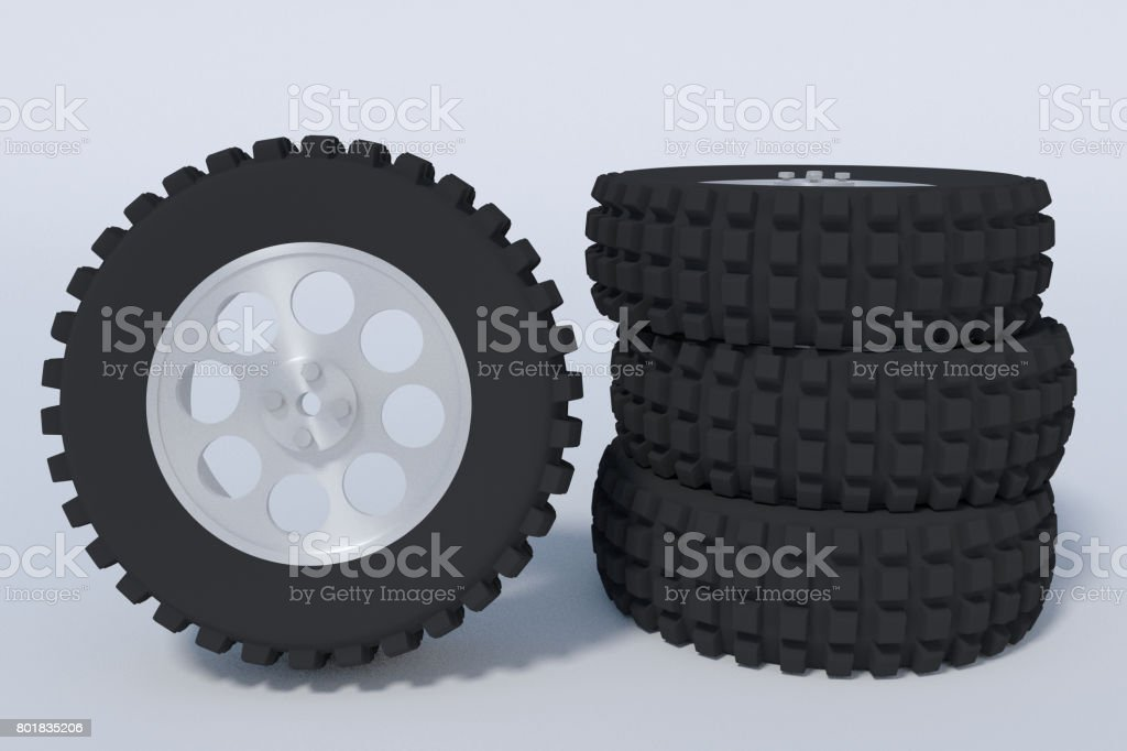 big vehicle tires stock photo