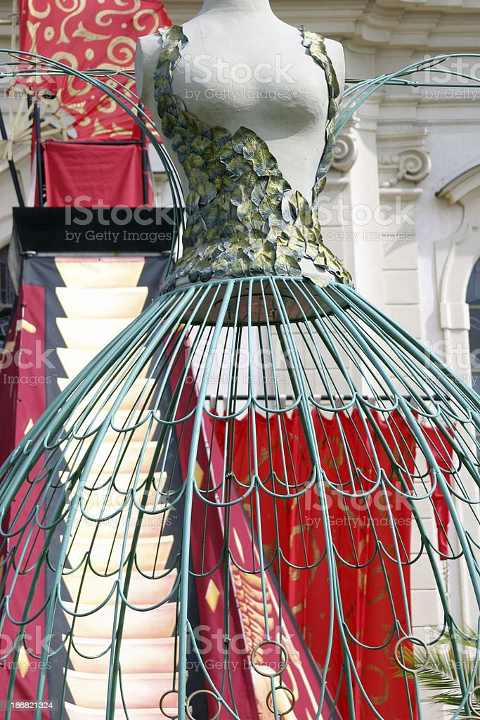 Big venetian carnival female dummy royalty-free stock photo