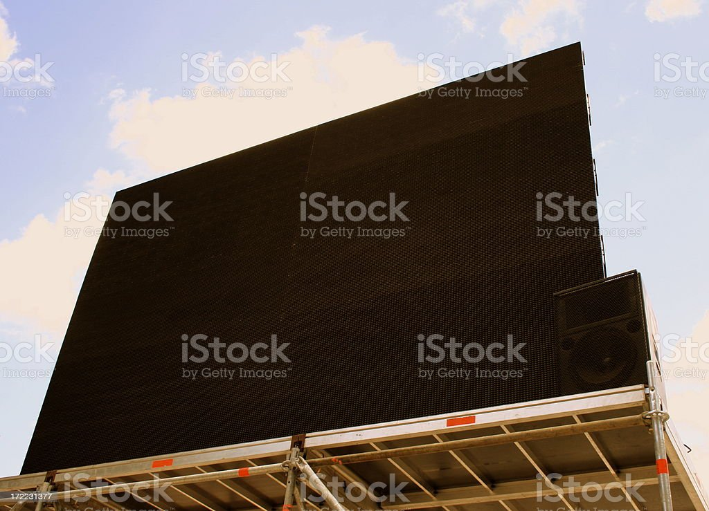 big video screen royalty-free stock photo