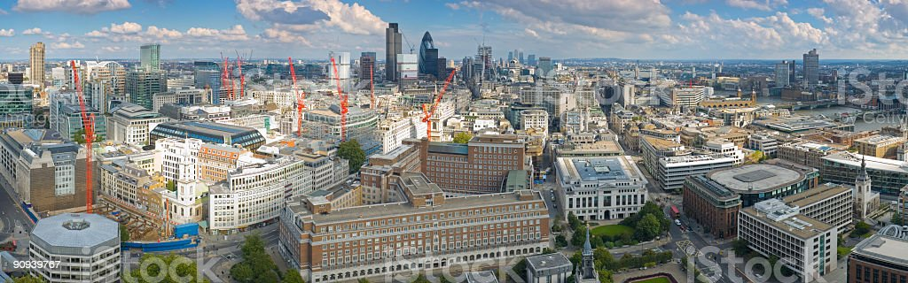 Big view over London royalty-free stock photo