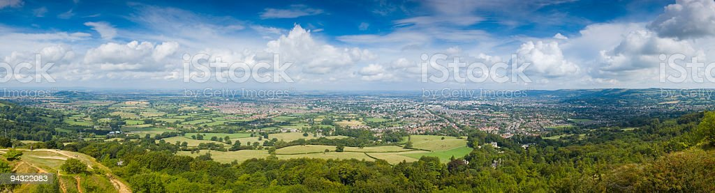 Big view over town and country royalty-free stock photo