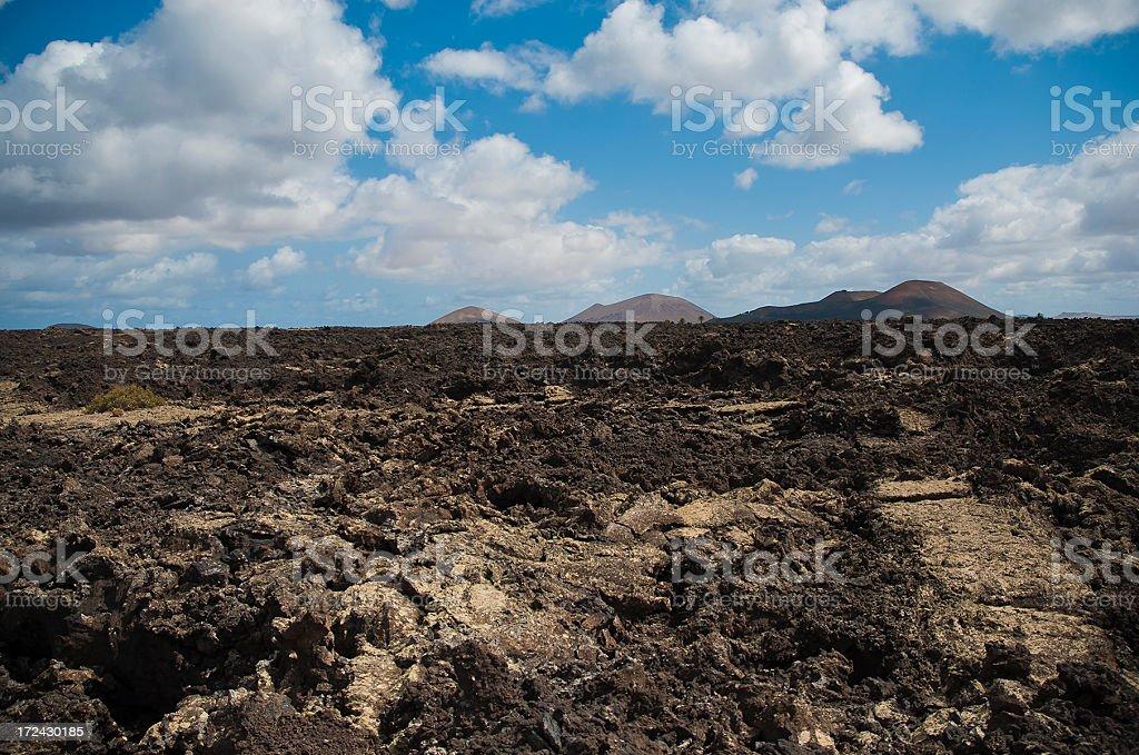 Big volcanic landscape royalty-free stock photo