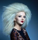 big volume hair and fashion