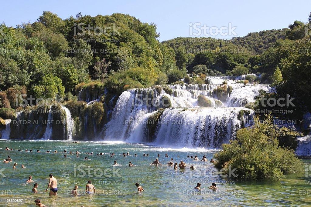 Big Waterfall in Krka stock photo