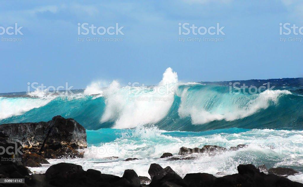 Big Wave at Mackenzie State Park stock photo