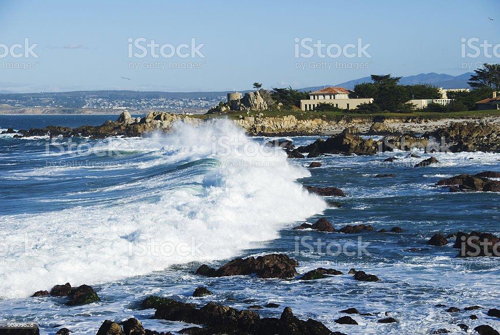 Big wave at the ocean coast stock photo
