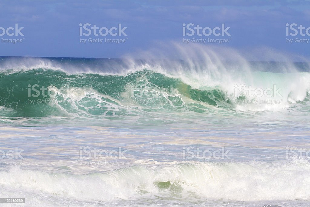 Big Wave Breaking in Hawaii royalty-free stock photo