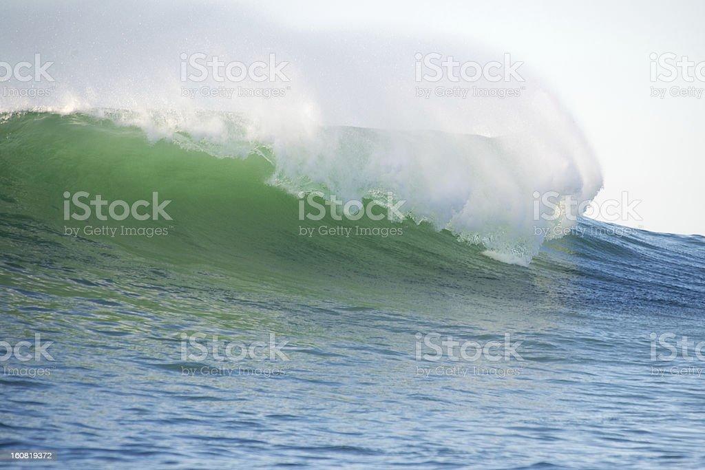 Big wave breaking royalty-free stock photo