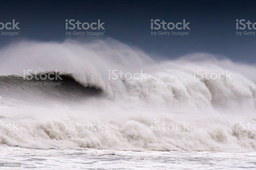 big wave breaking stock photo