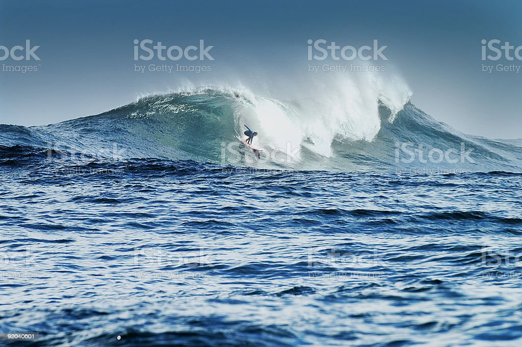 Big Wave Surfers royalty-free stock photo