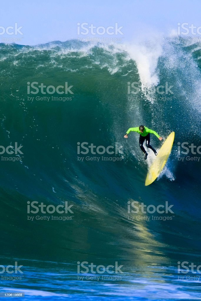 Big Wave Wipeout stock photo