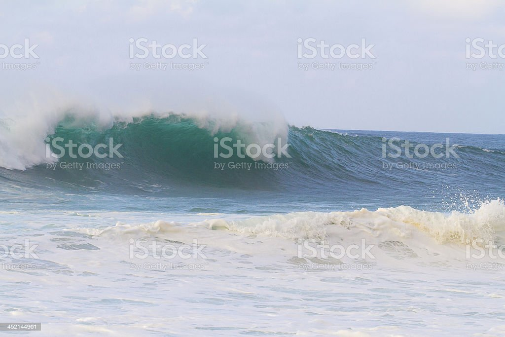 Big Waves at Pipeline Oahu royalty-free stock photo