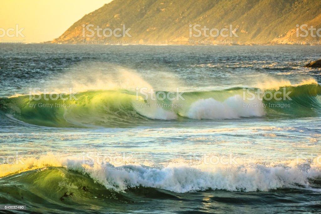 Big waves Atlantic coast stock photo