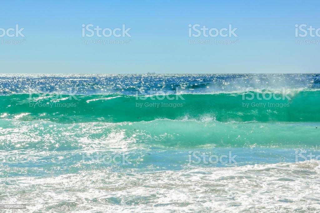 Big waves background stock photo