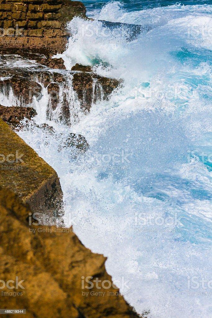 Big Waves in Puerto Rico stock photo