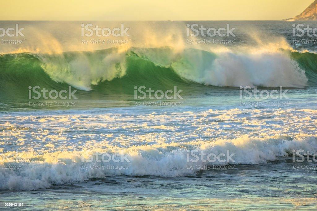 Big Waves Noordhoek Beach stock photo