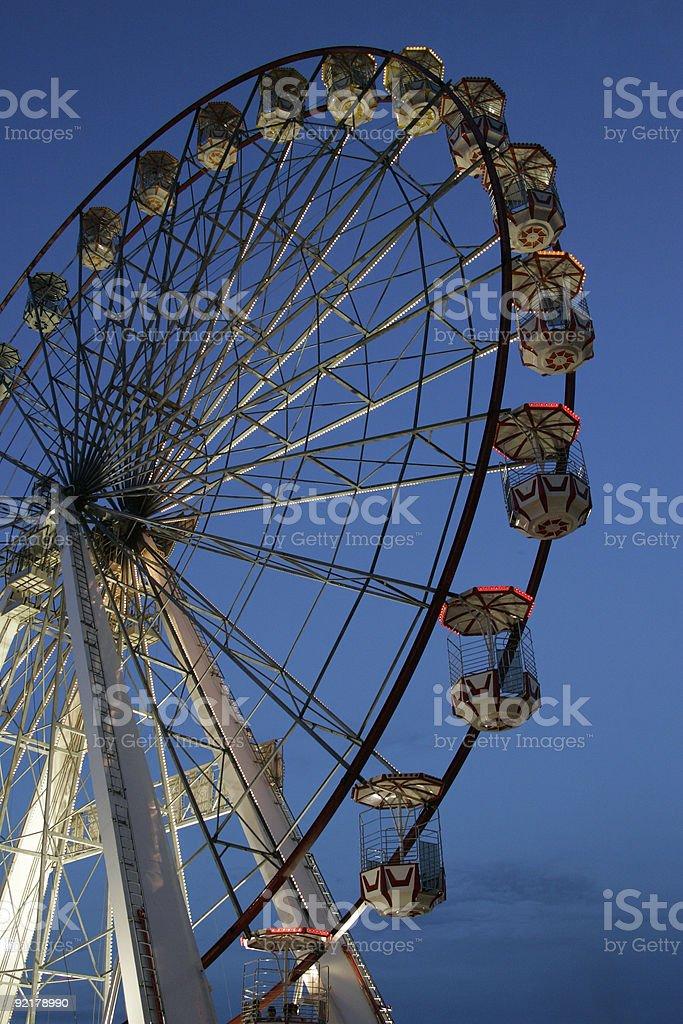 Big Wheel at dusk royalty-free stock photo