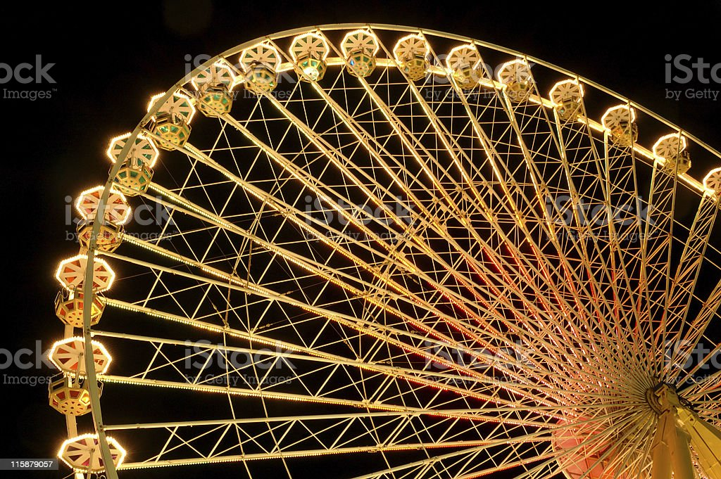 Big wheel at night royalty-free stock photo