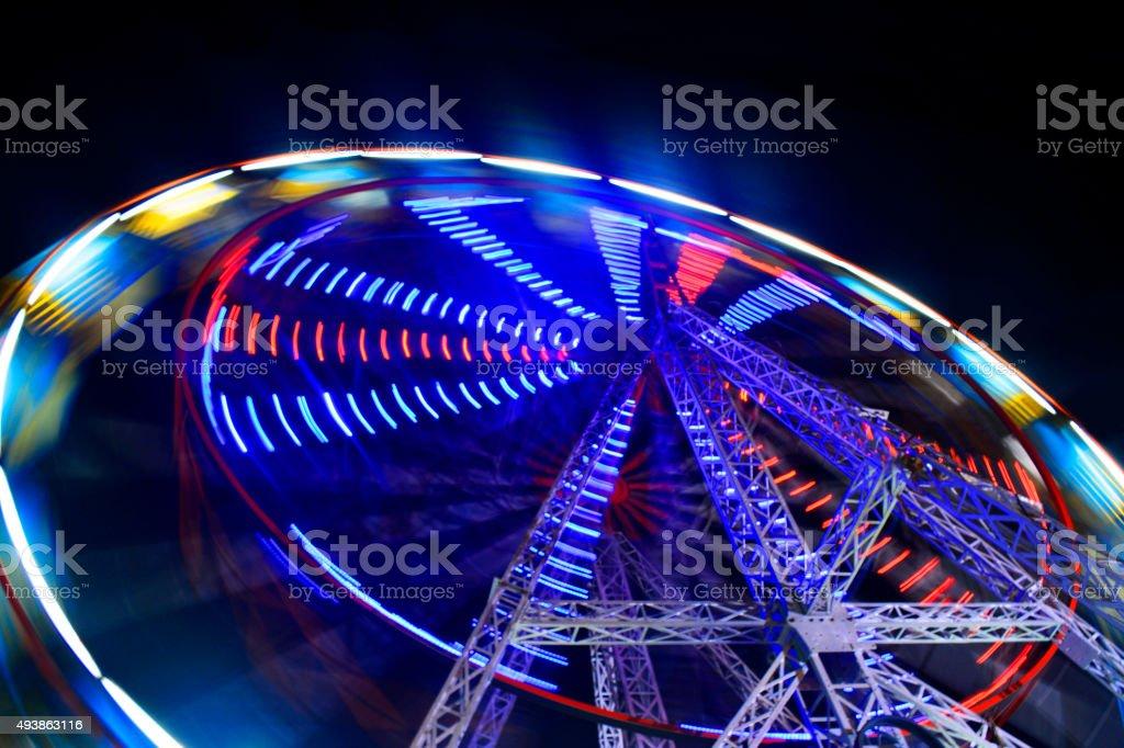 Big Wheel at night stock photo