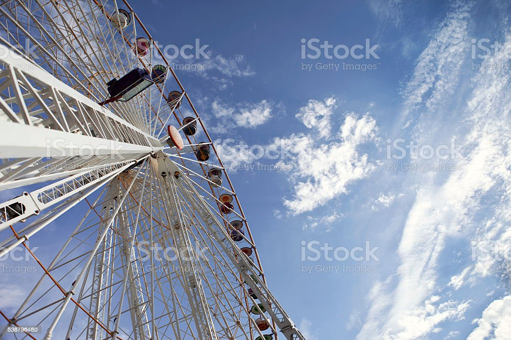Big wheel in a fairground stock photo