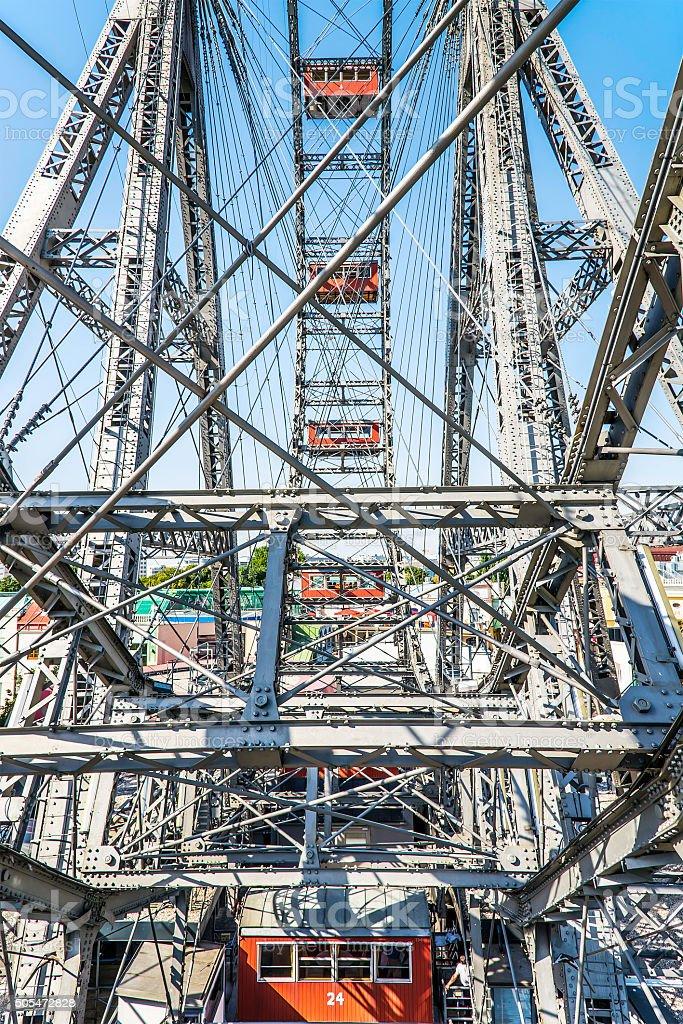 Big wheel in Vienna stock photo