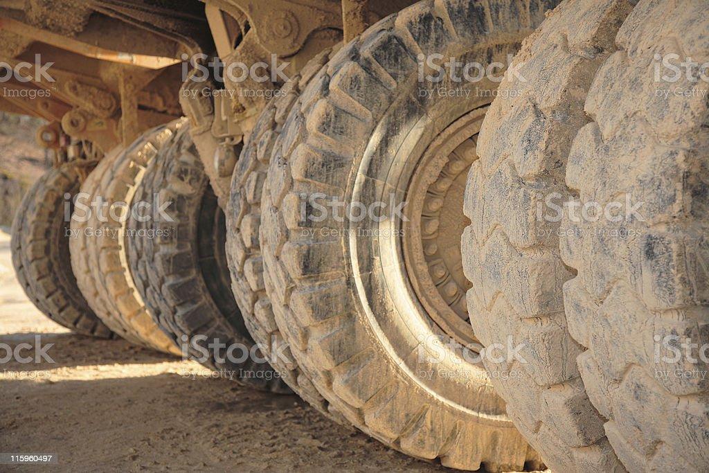 Big Wheel of Heacy Duty Dump Trucks royalty-free stock photo