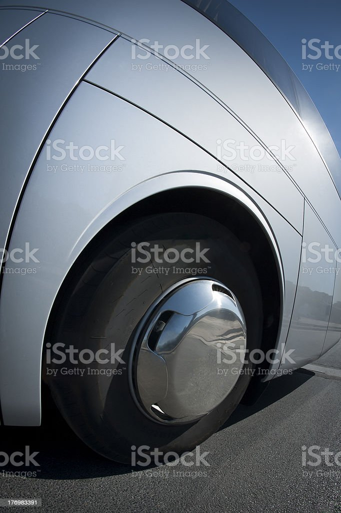 Big wheel on a bus royalty-free stock photo